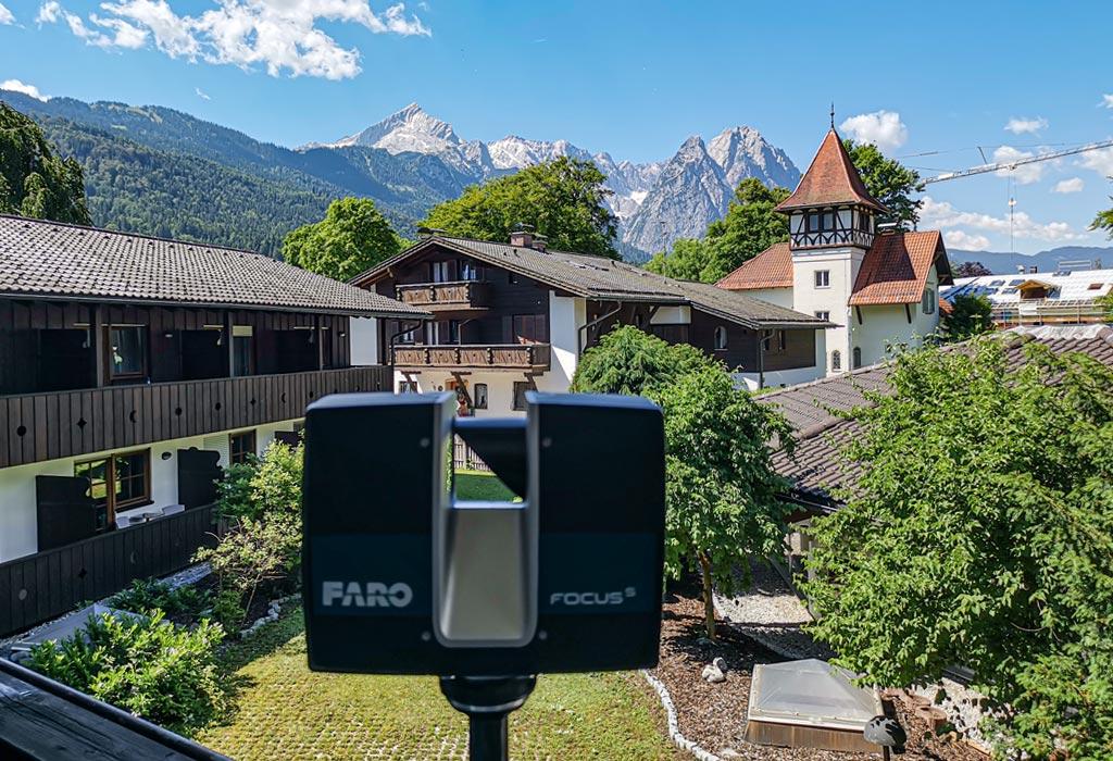 3D-laserscanning für die Generalsanierung von Hotels und Gasthäusern